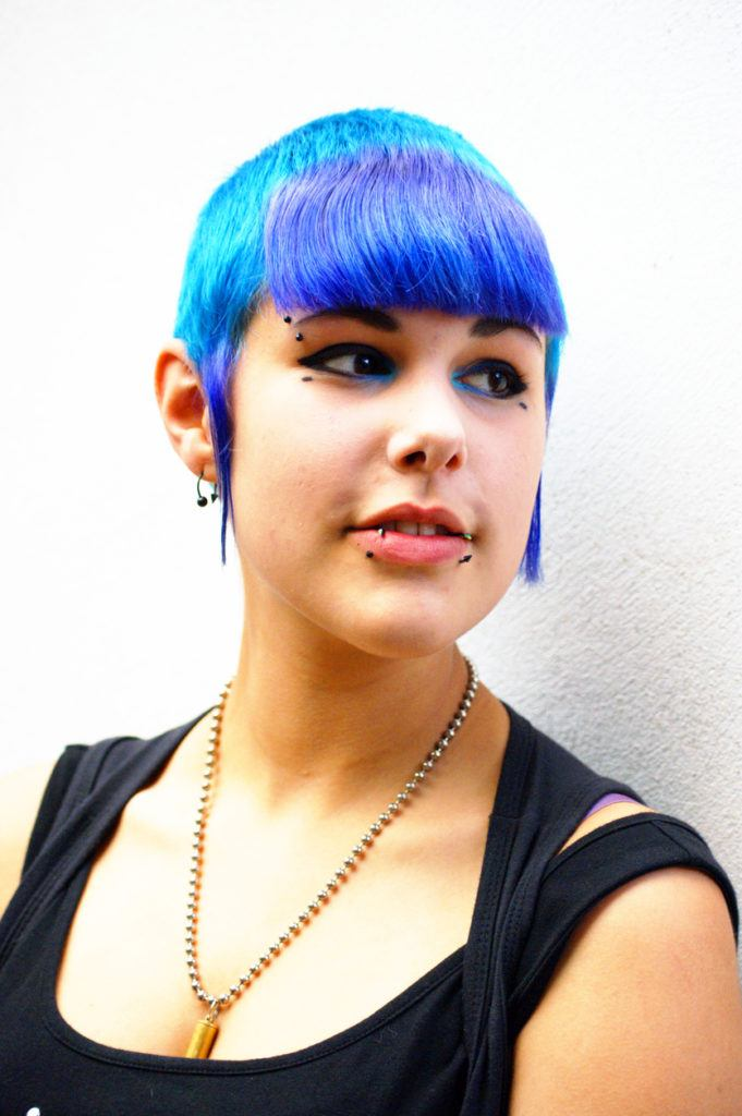 funny haircuts: shades of blue