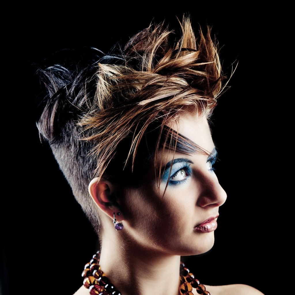 funny haircuts: edgy pixie
