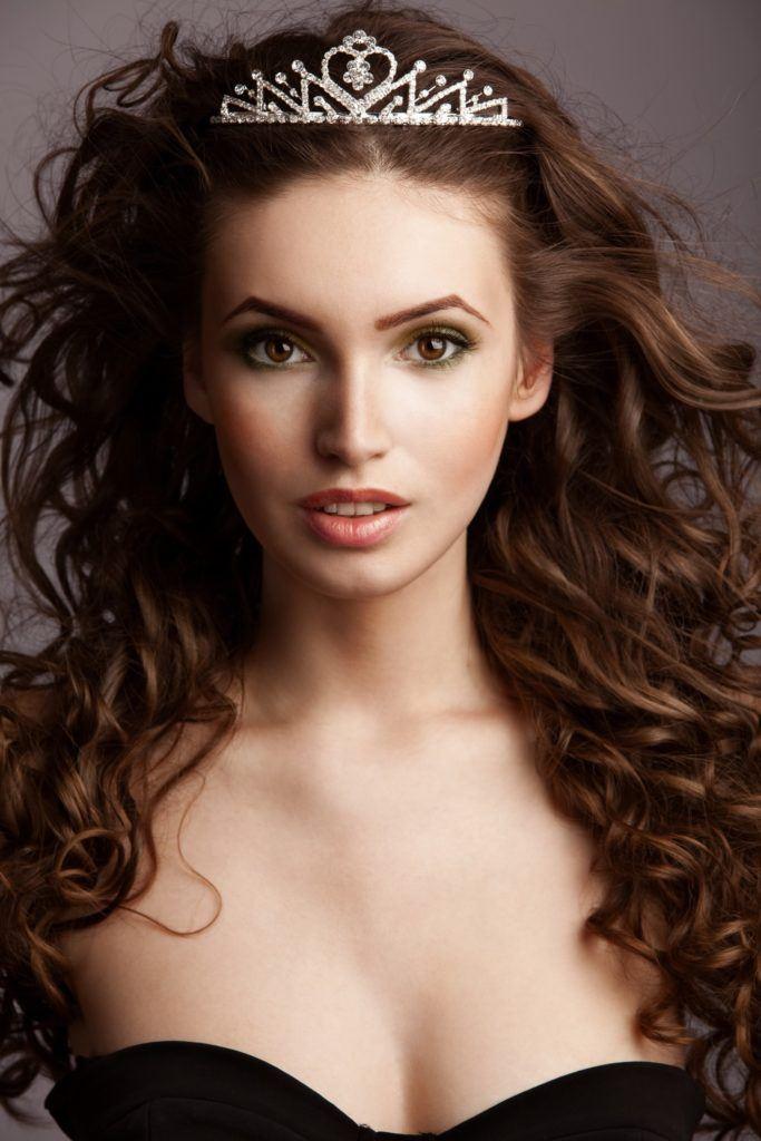 hairstyles with tiara voluminous curls