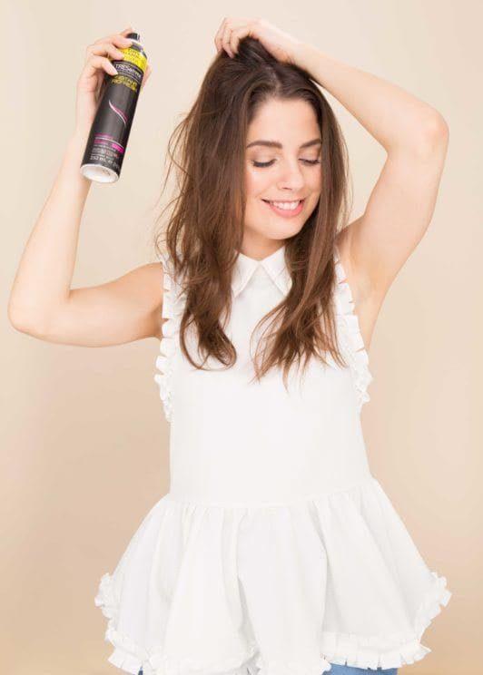 how to do a topknot use dry shampoo