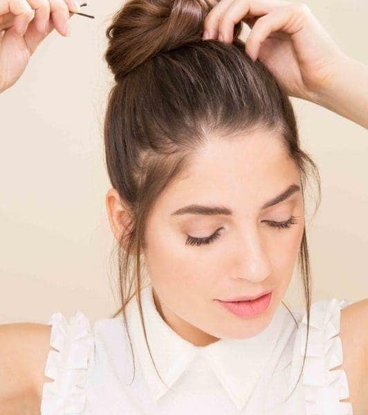 how to do a topknot tutorial add hair pins