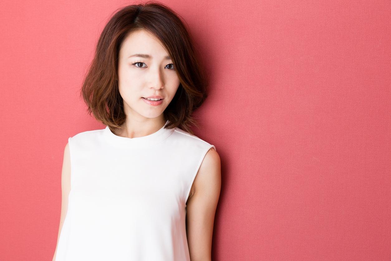 wavy bob Korean short hairstyles