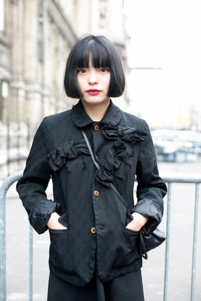 blunt bangs Korean short hairstyles