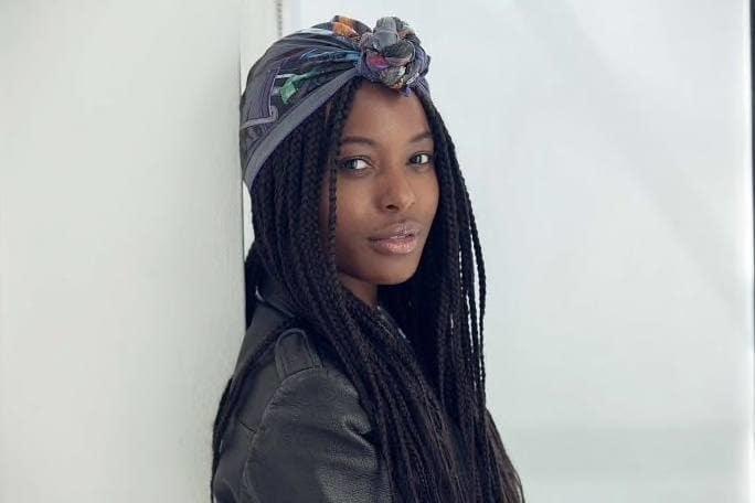 long box braids scarf