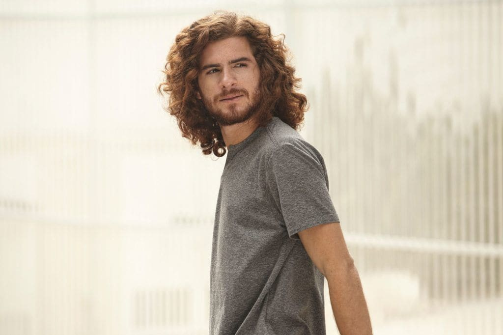 red curly hair: men's hair color