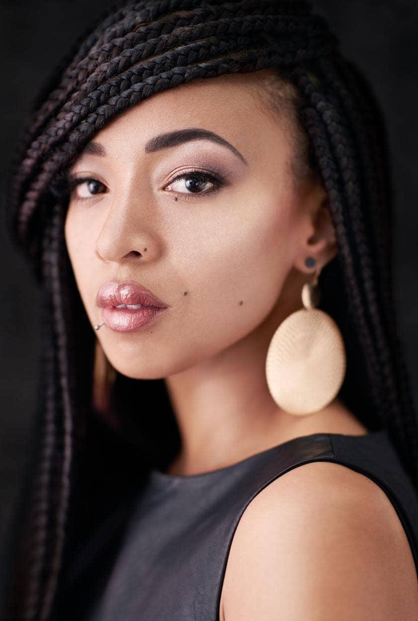 natural braided hairstyles side bangs
