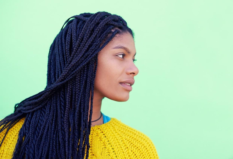 single box braids: small braids