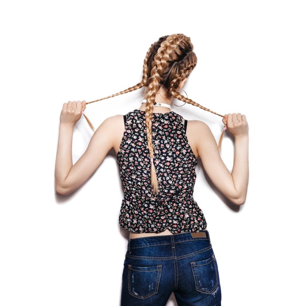 faux hawk braid side braids