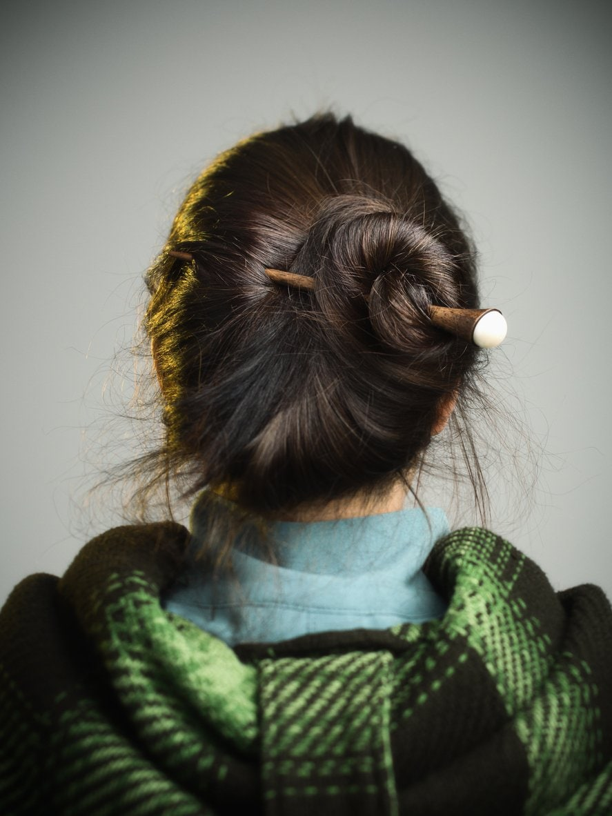 hair sticks headband hairstyles
