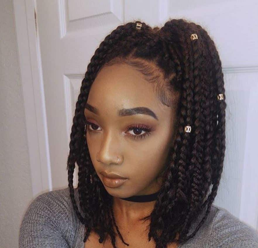 12 Stylish Medium Box Braids That Are Trending In 2020 All Things Hair