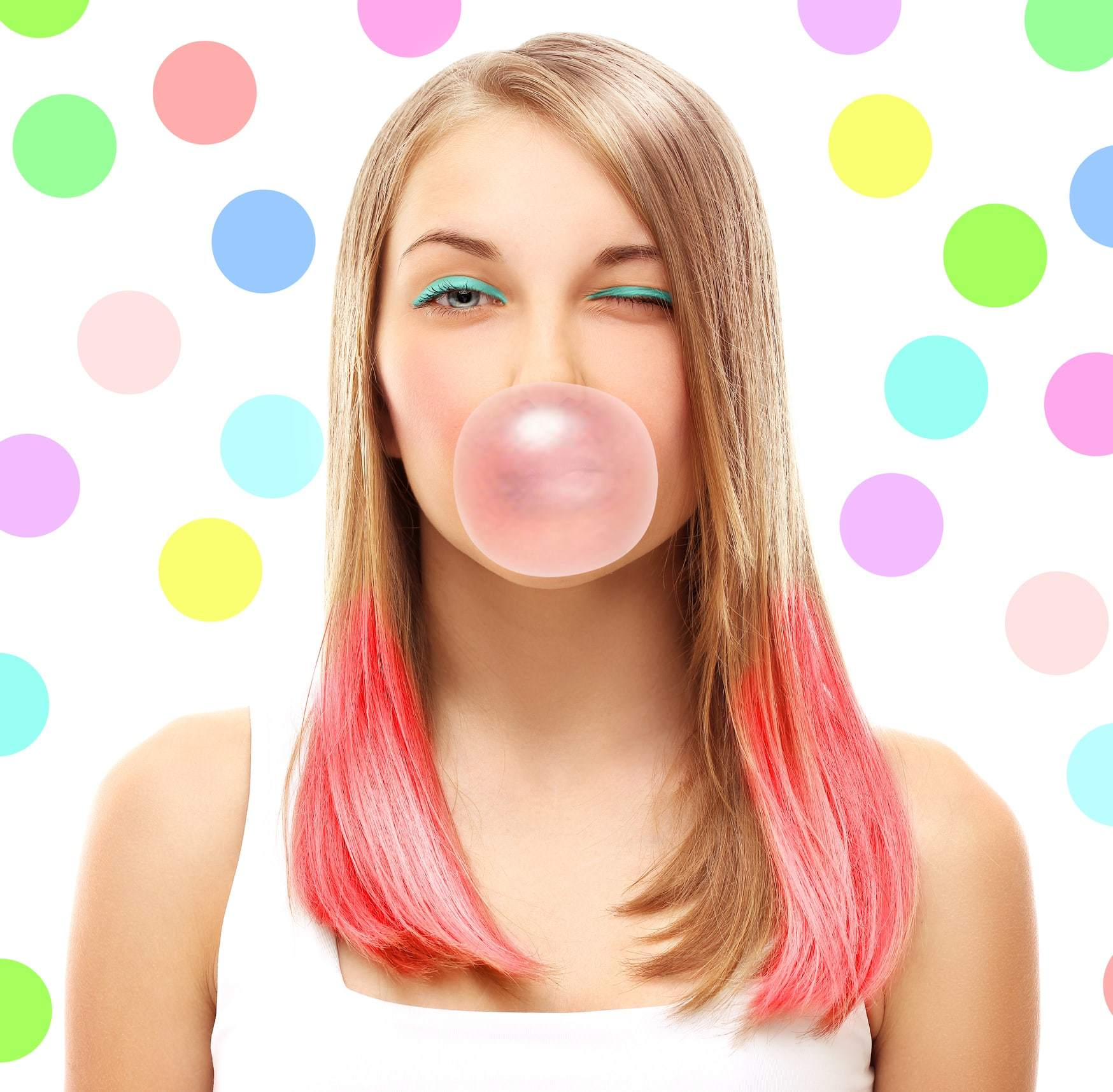 two tone hair blonde pink