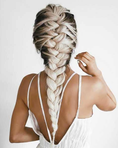 two tone hair french braid