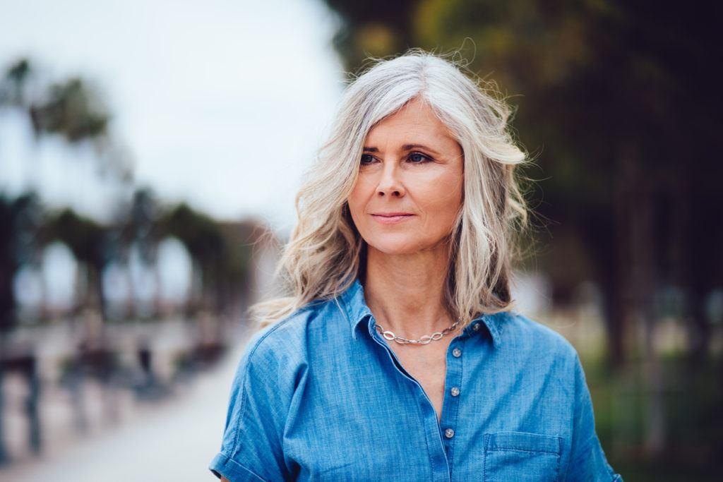 body wave perm: aging hair