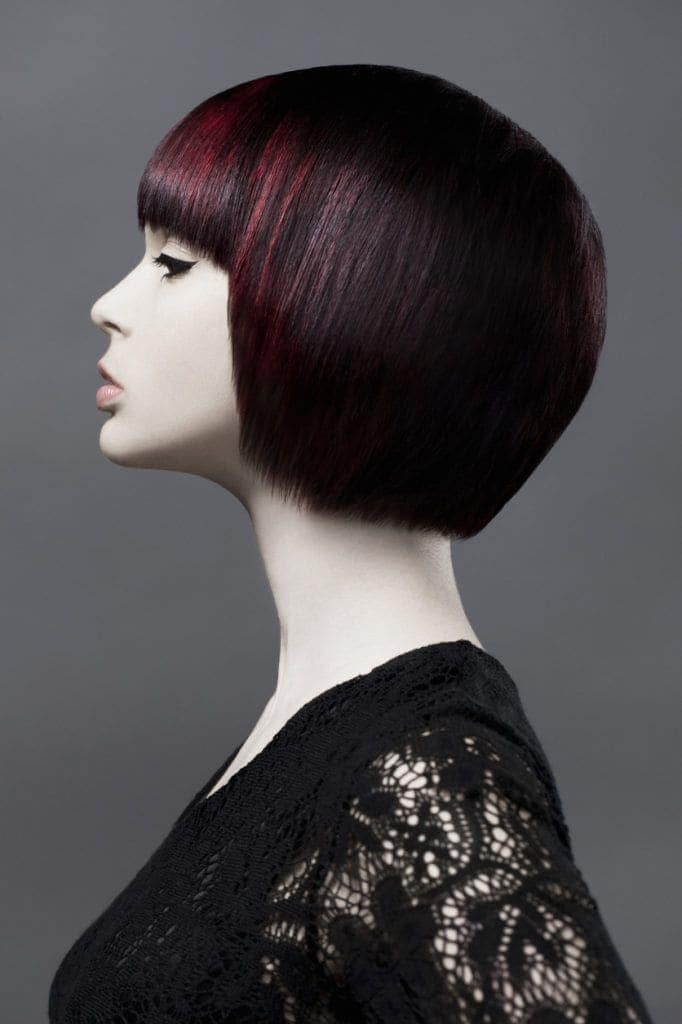 cherry cola hair color highlights bob haircut