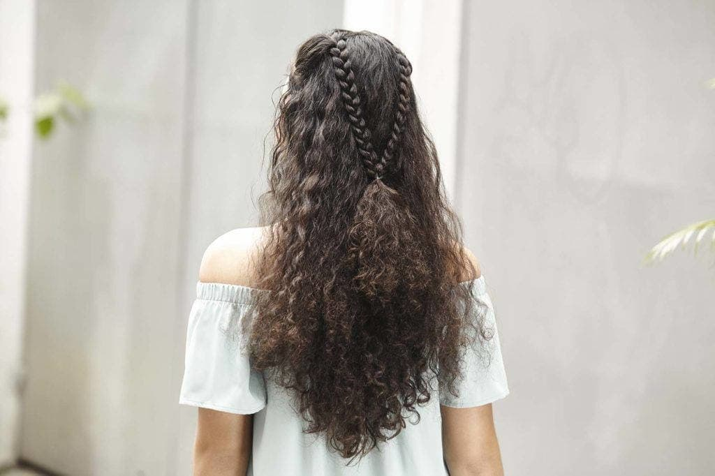 hairstyles for thick curly hair braids