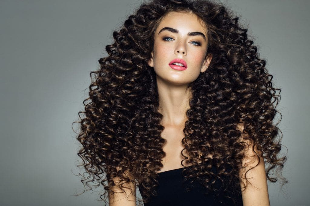 curly perm dark brown s curls