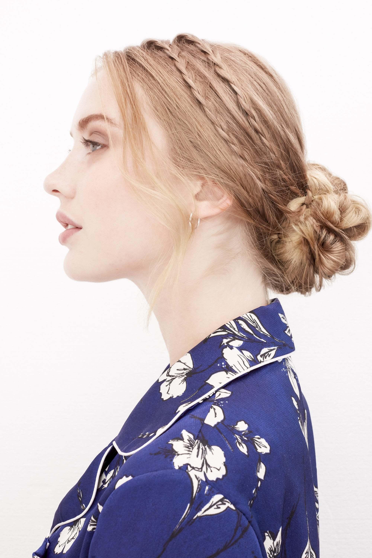 everyday hairstyles braided bun