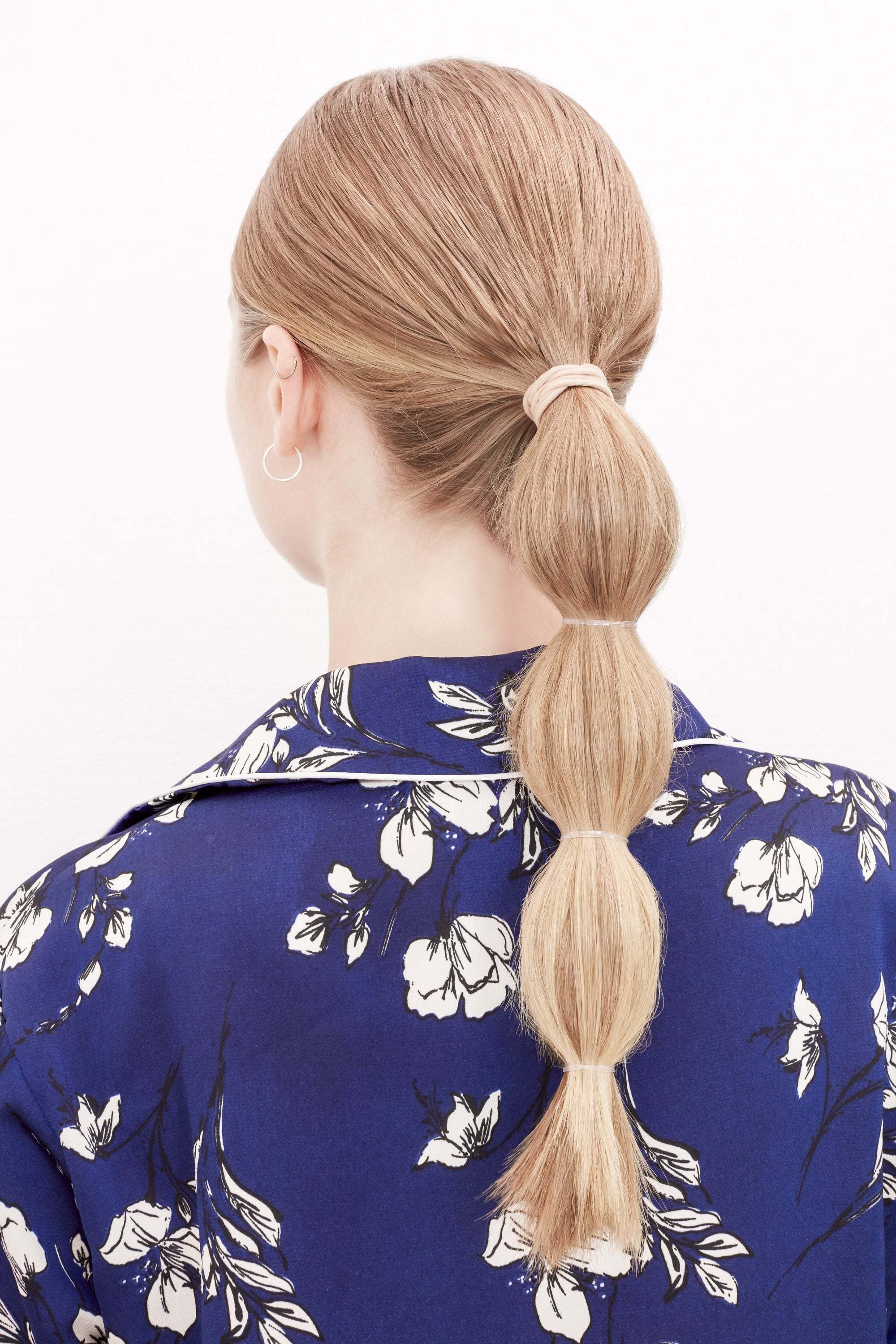 everyday hairstyles blonde hair bubble ponytail