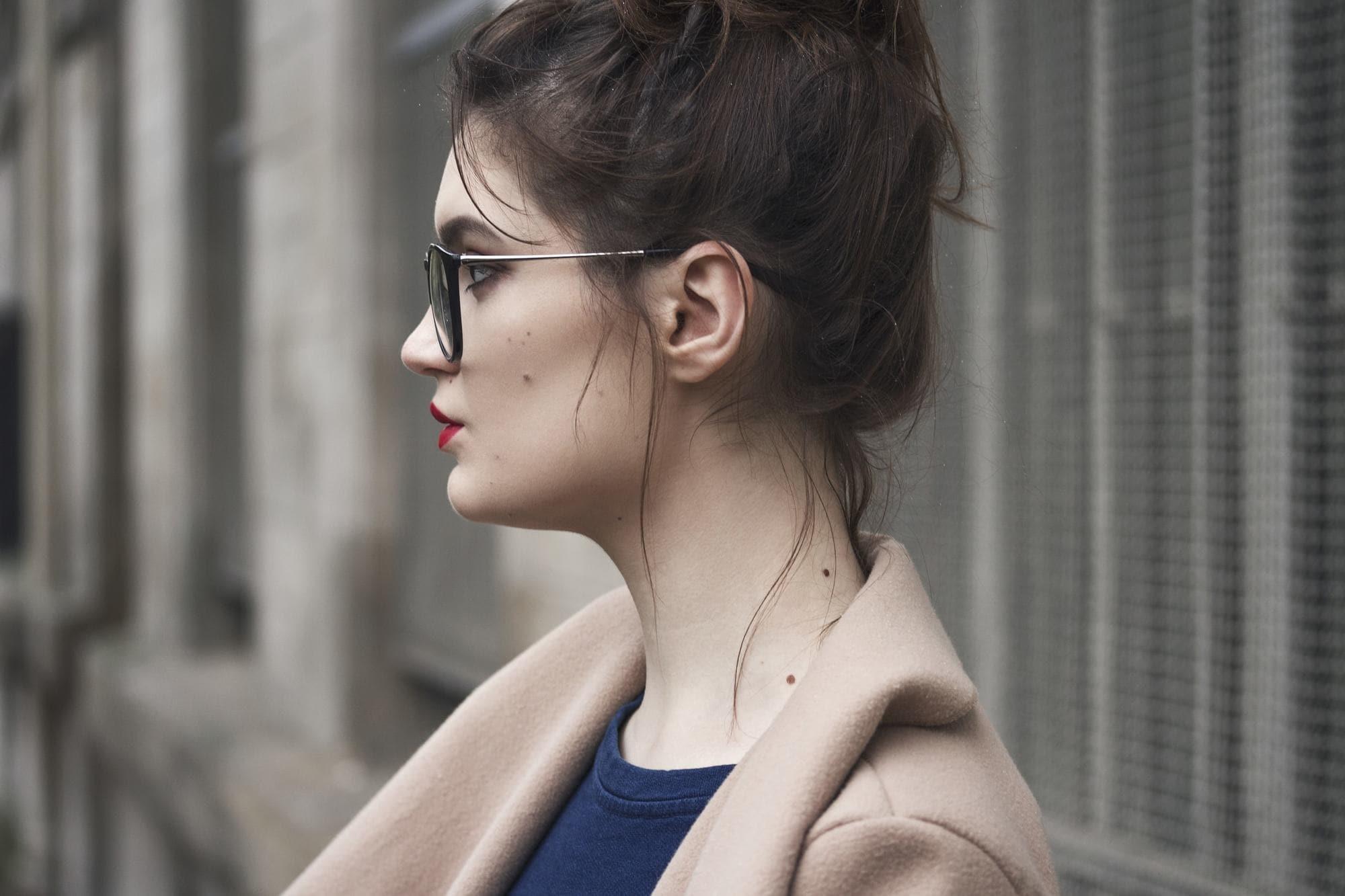 hair loss in women messy bun brunette