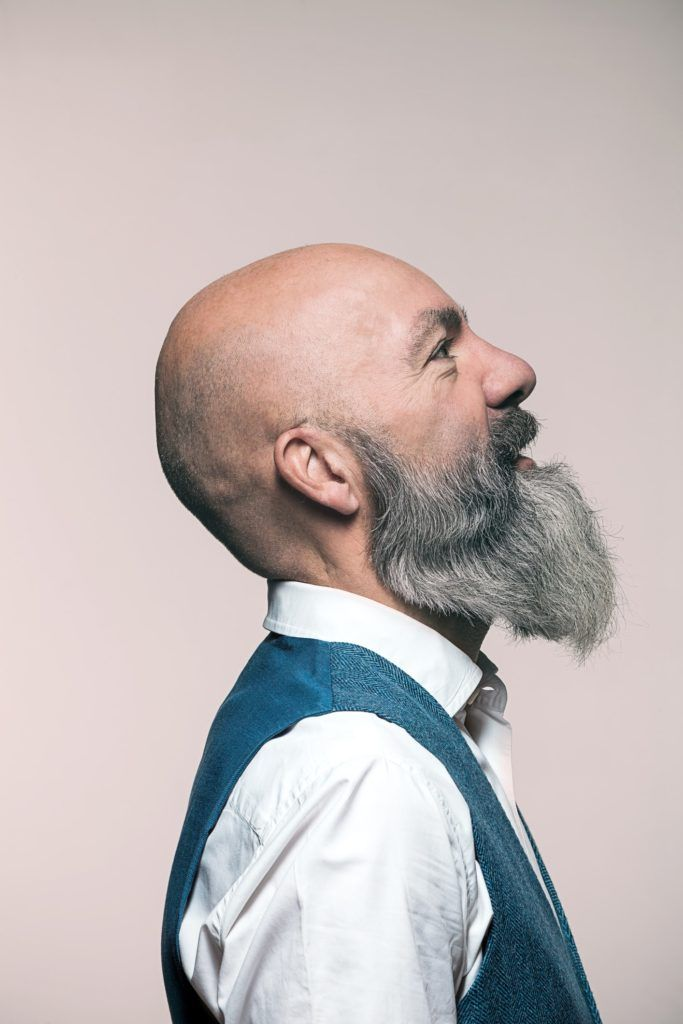 hairstyles for men over 50 bald beard