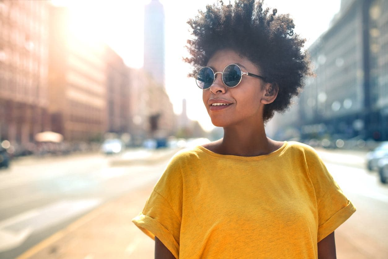 kinky curly hair: tapered 'fro