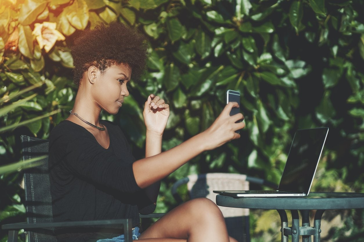 tapered pixie: kinky curly hair