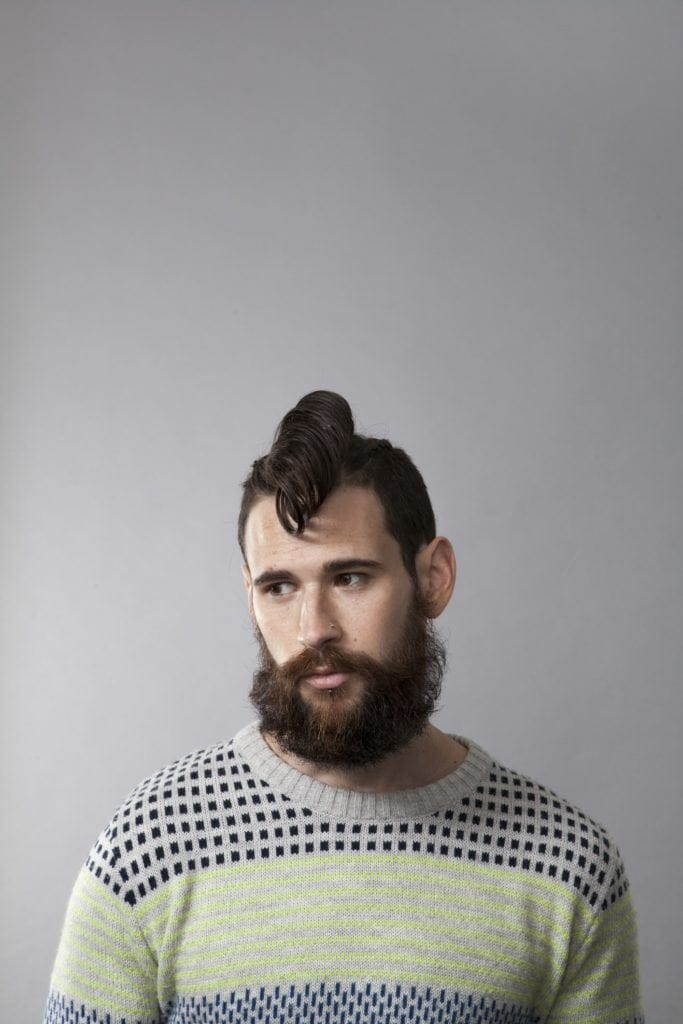 mohawk comb over styled swoop