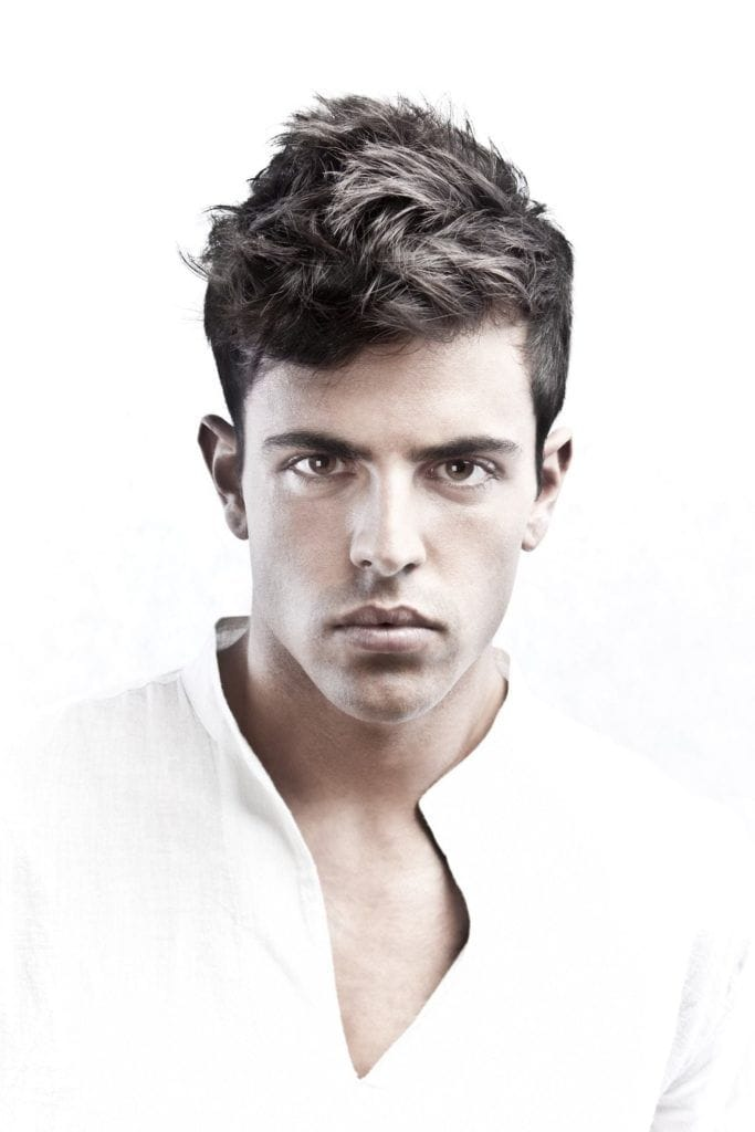 short hairstyles for men with thick hair loose short pompadour