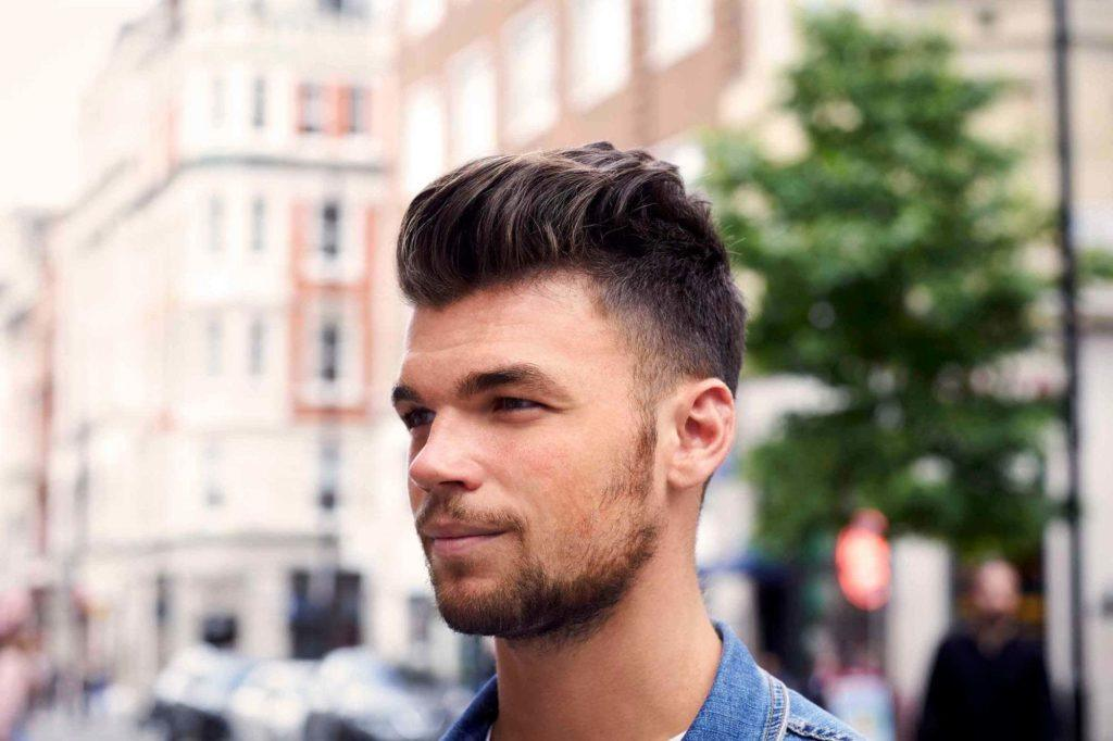 short hairstyles for men with thick hair long caesar cut