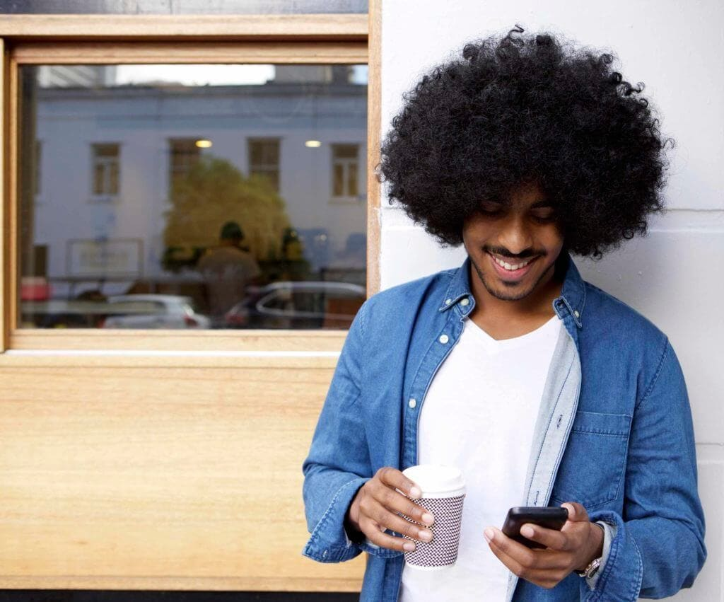 blowout haircut: huge afro