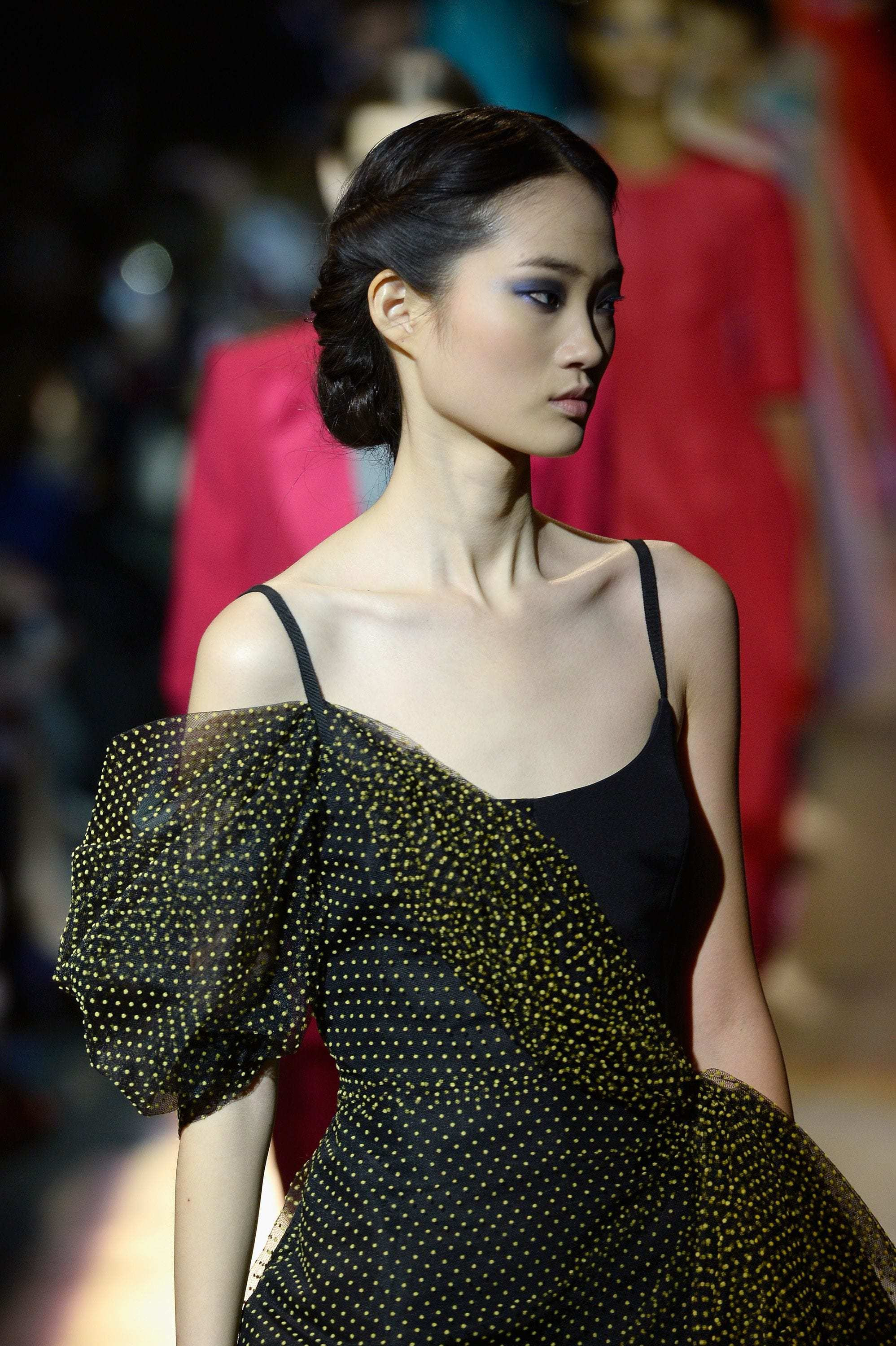 chinese hairstyles twisted low bun