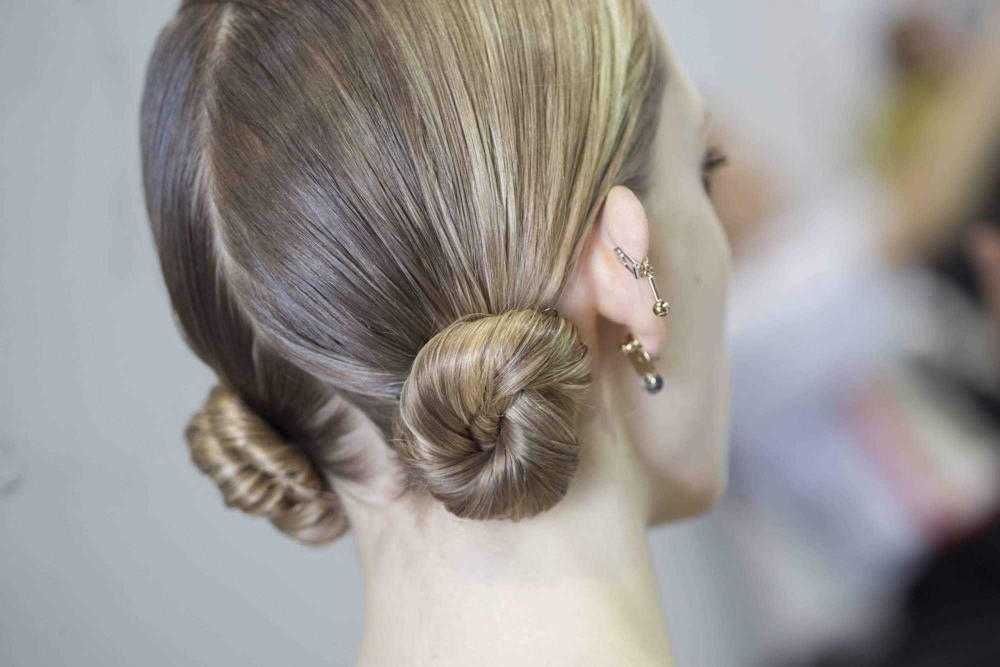 curly prom hairstyles macaron bun