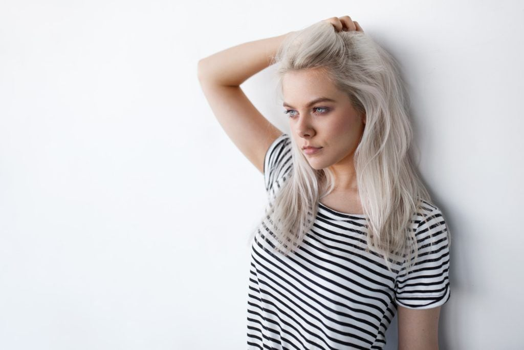 grey ombre hair white grey rooted