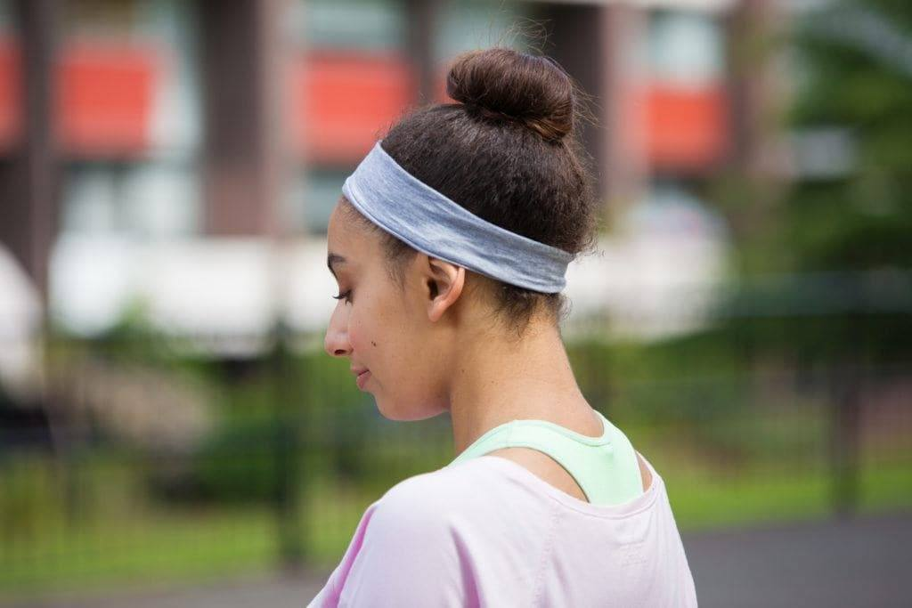 hairstyles for athletes: bun updo