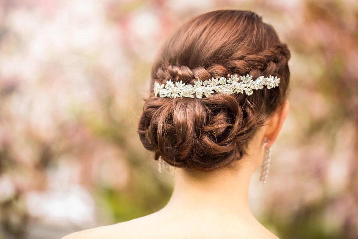prom hairstyles for medium hair braided chignon