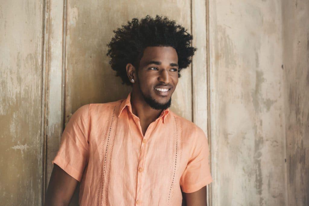 men's medium to long hairstyles afro