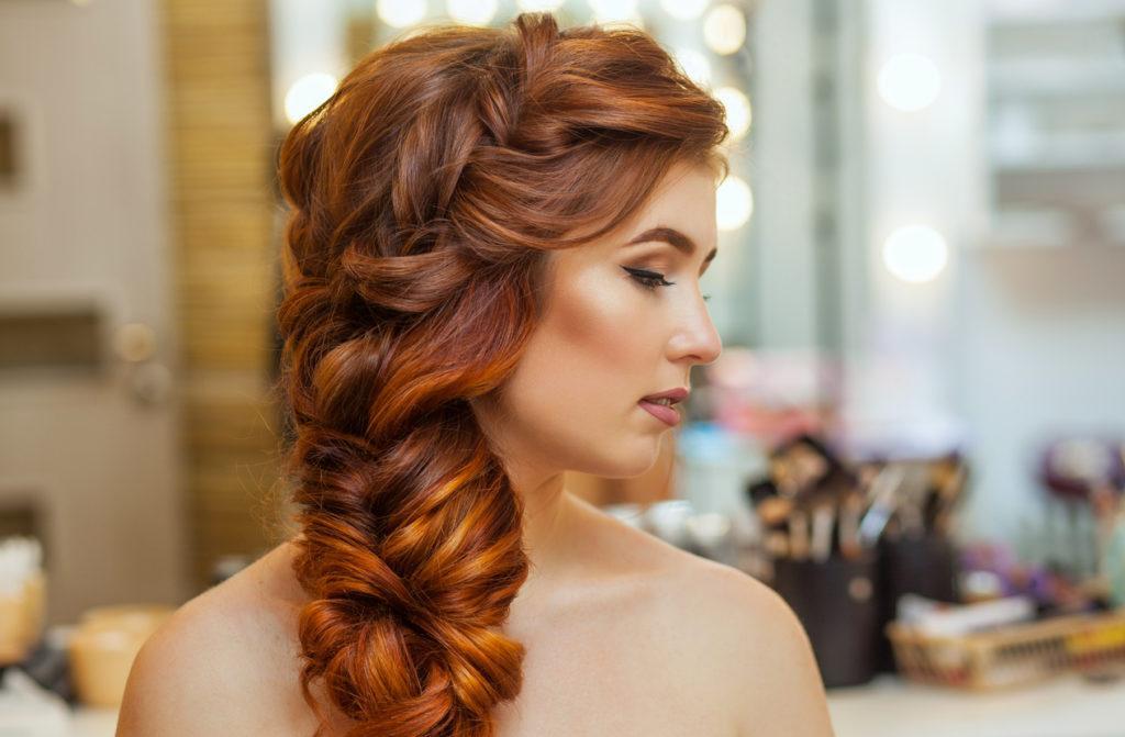 prom hairstyles for medium hair teased braid