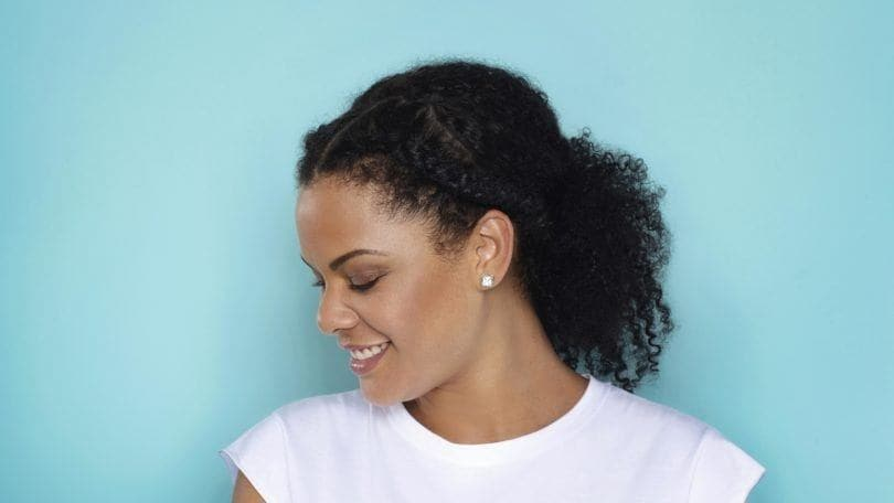 natural hair updos: braided pony