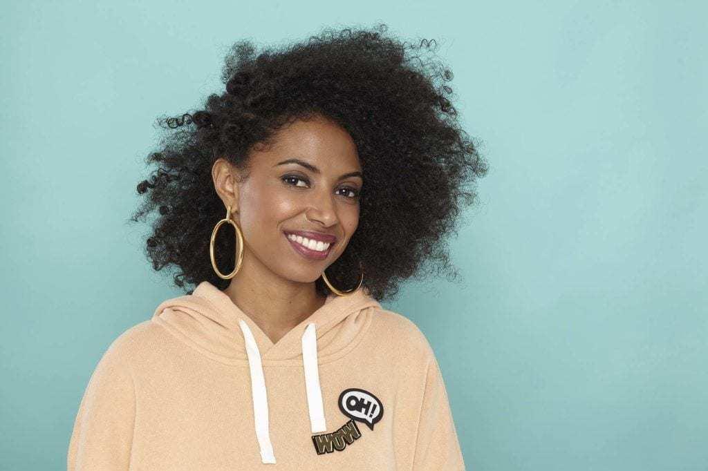 natural hair updos: side Bantu