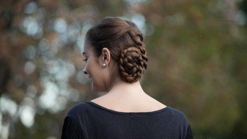 side bun hairstyles double bun