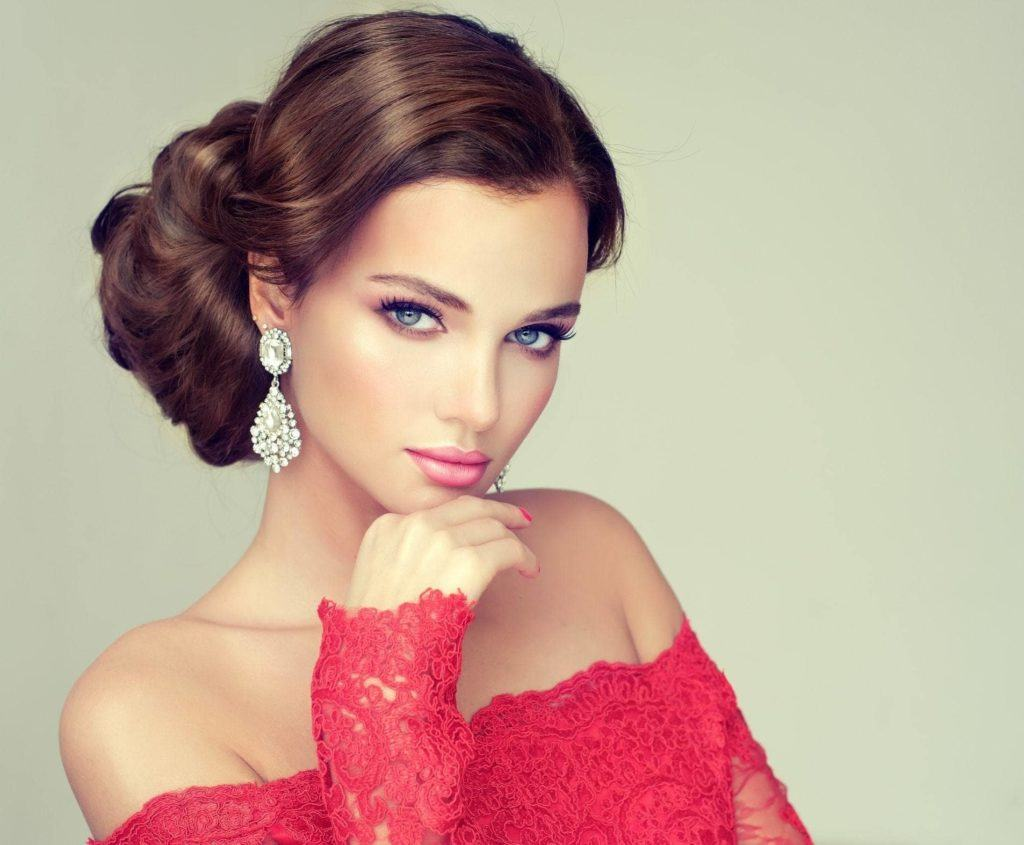 side bun hairstyles formal and wavy