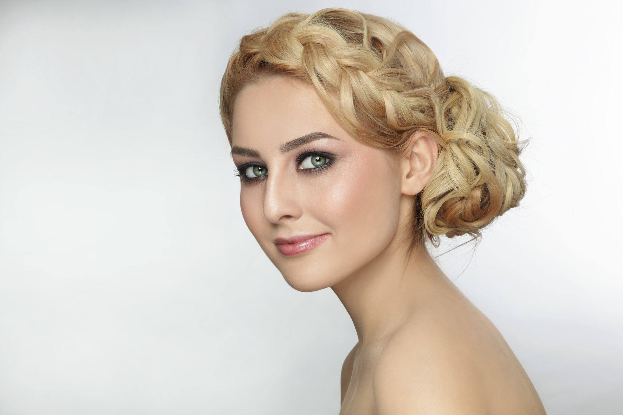 side bun hairstyles curly braided bun