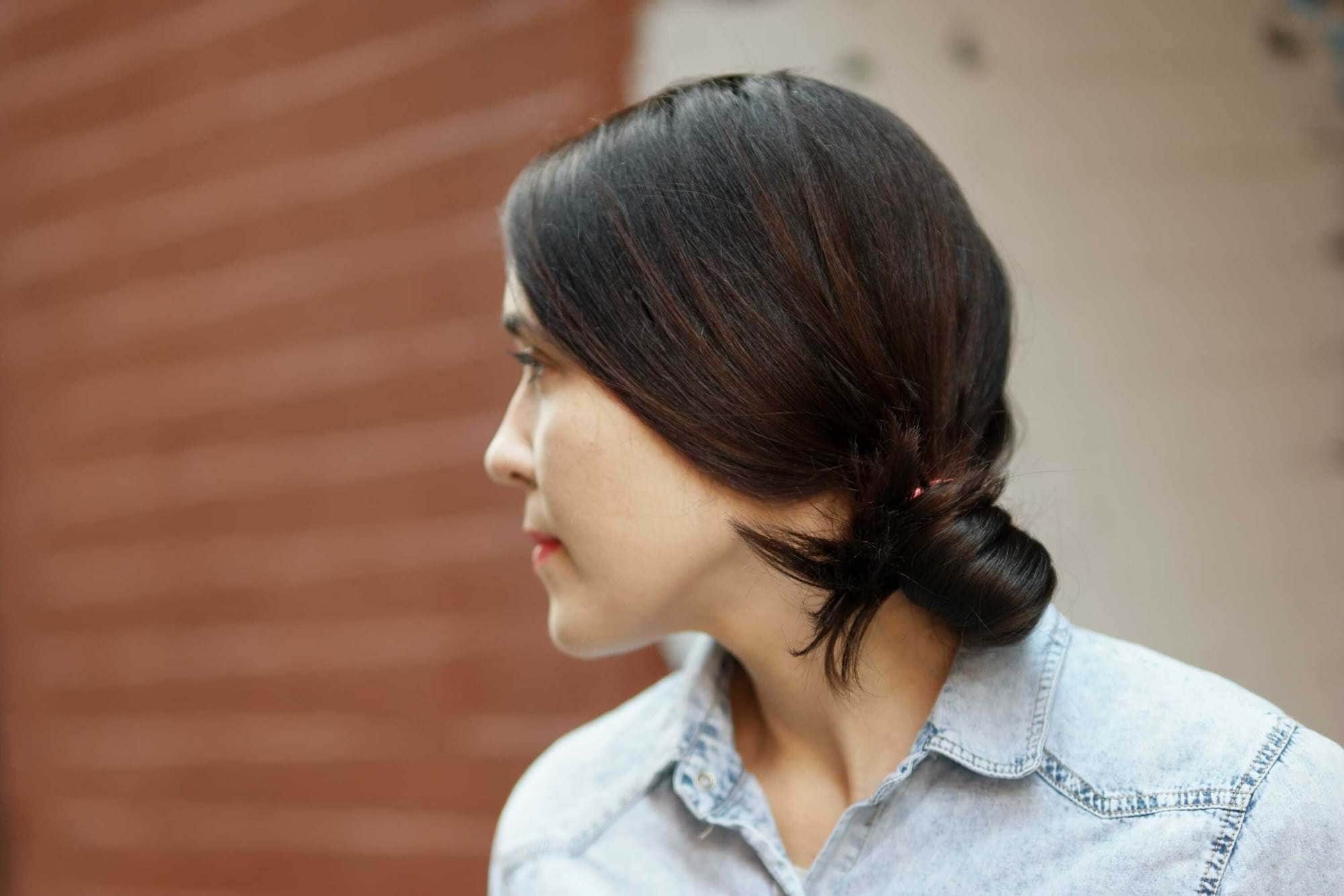 side bun hairstyles low knot