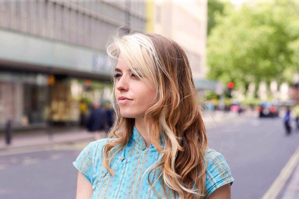 two-toned hair: long brown and blonde hair