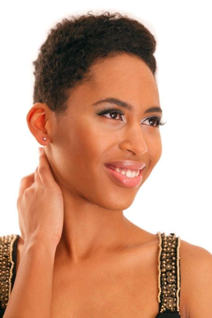 black hair types: short curls