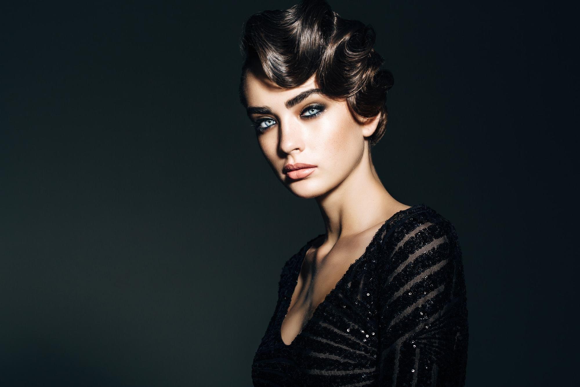 easy vintage hairstyles vintage curls dark brown