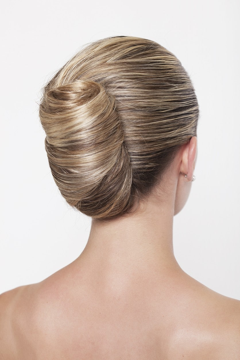 prom updos for long hair banana chignon