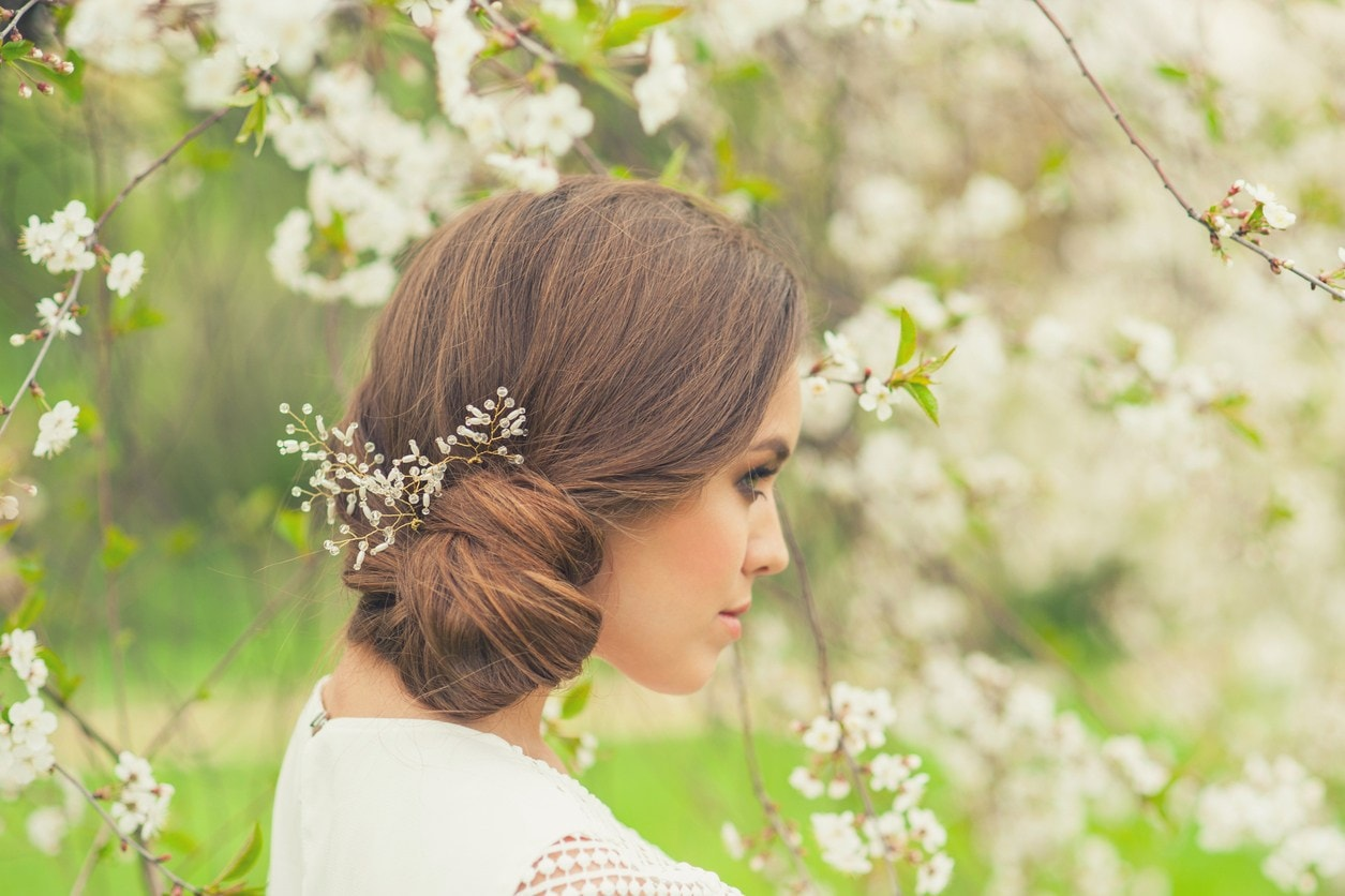 prom updos for long hair low side bun
