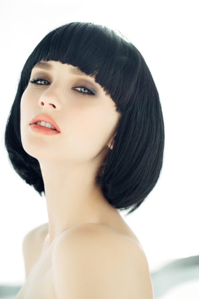 short bob hairstyles rounded