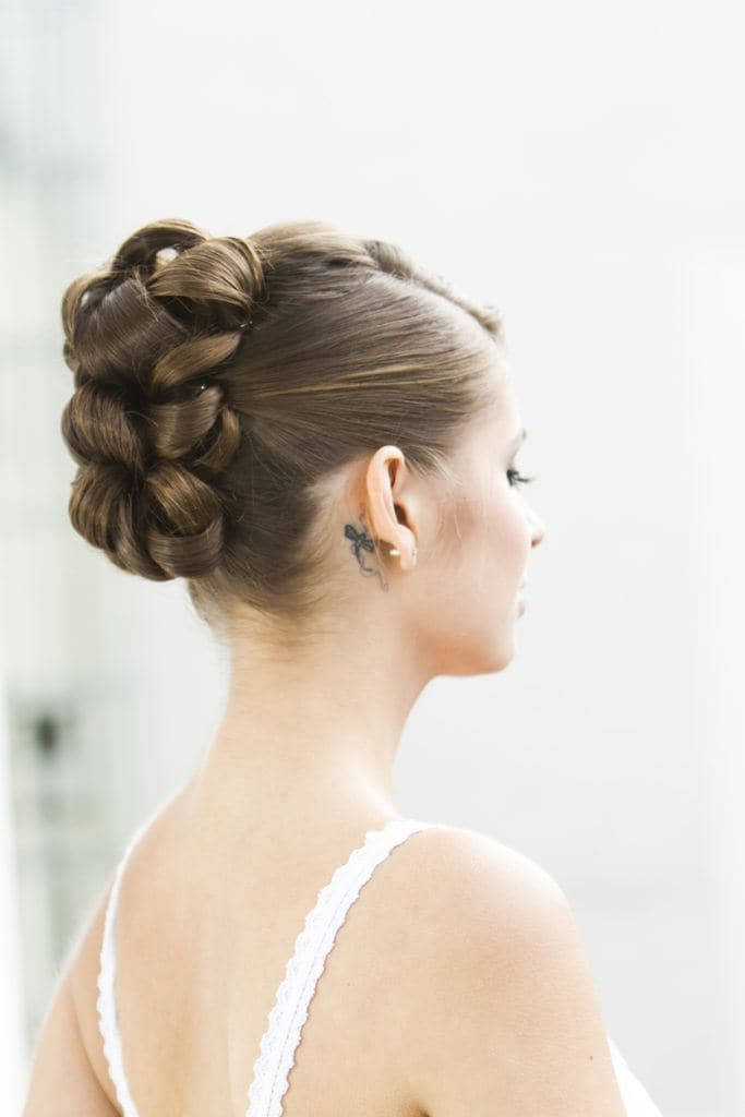 prom updos for long hair faux hawk braid